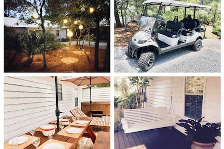 30a Cottage: 3 Bed 2 Bath + Golf Cart & Hot Tub!