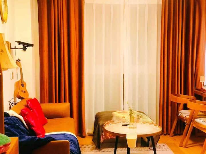 【果粒家复式公寓】近地铁口精装复式Loft可聚餐/求婚表白/影院浴缸/1号线可达五一广场/理工云塘