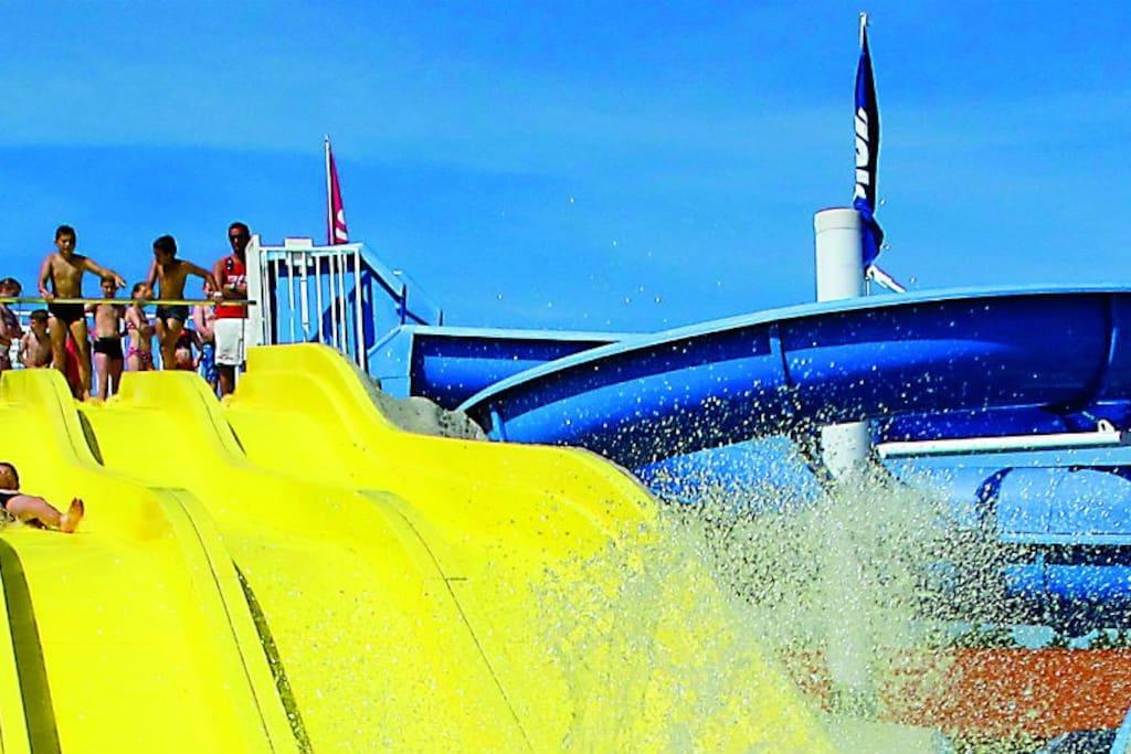 toboggan, jeux aquatique