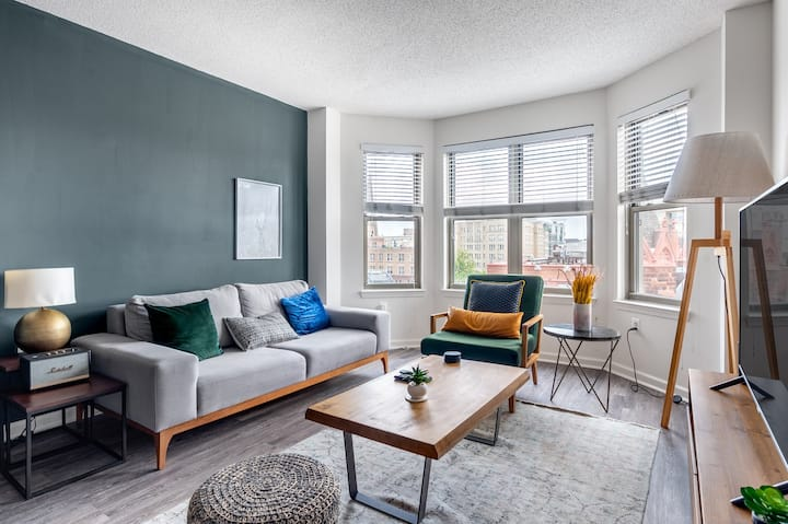 Serene Logan Circle 1BR w/ Gym, W/D, by 14th St Shops, by Blueground