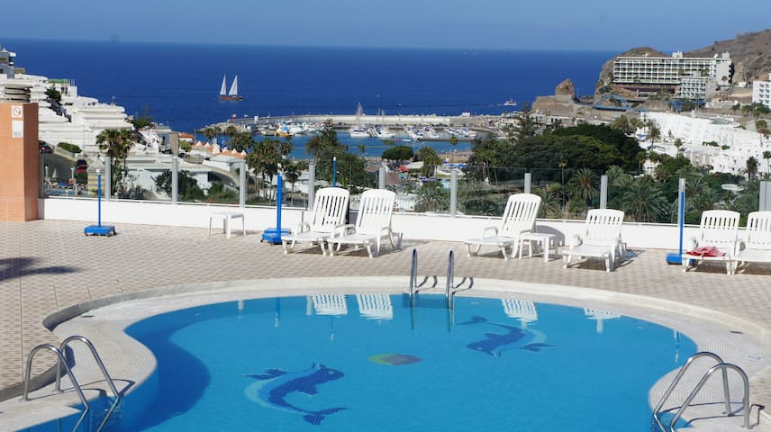 Spacious flat with ocean view - Mogán - Apartamento