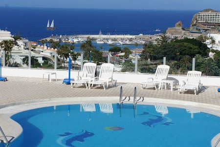 Spacious flat with ocean view - Mogán - Huoneisto