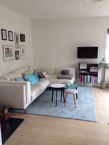 Lys 90 kvm 1. sal i villa/centralt - Hillerød - Apartment