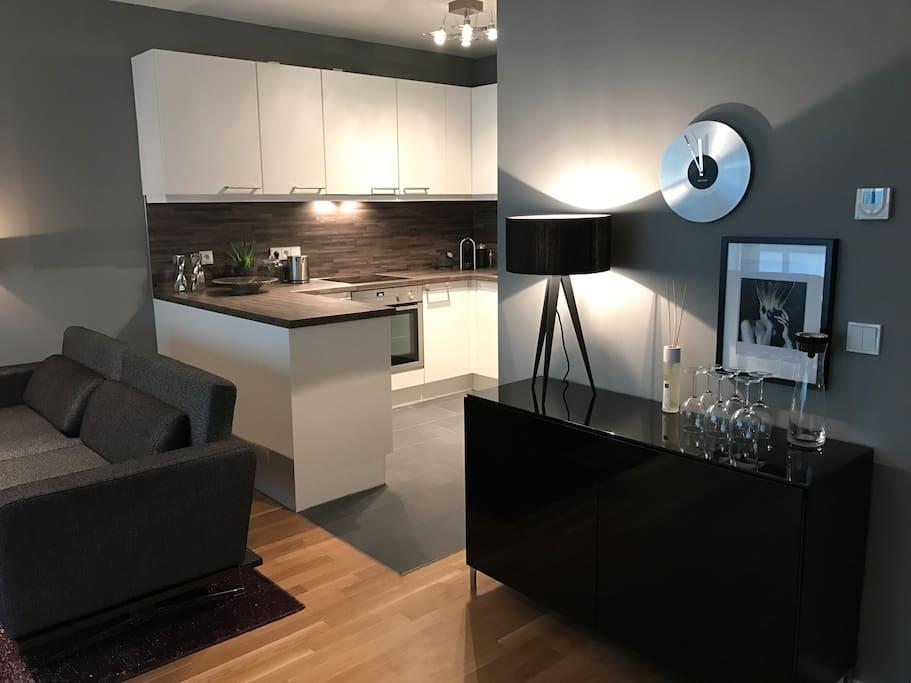 Design apartment in exklusivster alsterlage 6 pers for Design appartement hamburg