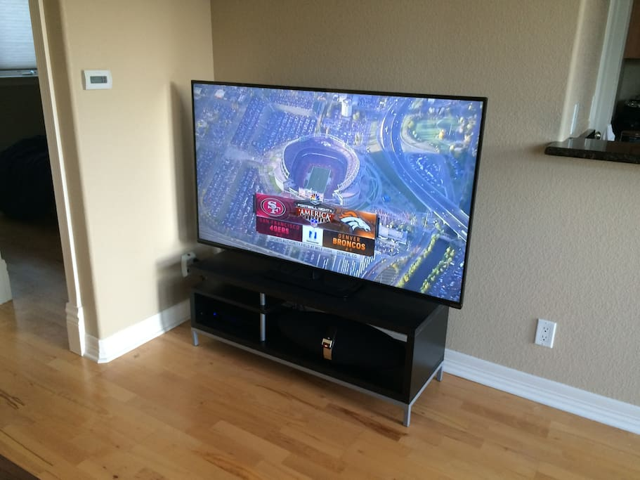 "60"" hi-Def smart TV with DirectTV and apps (Netflix, Hulu, etc.)"