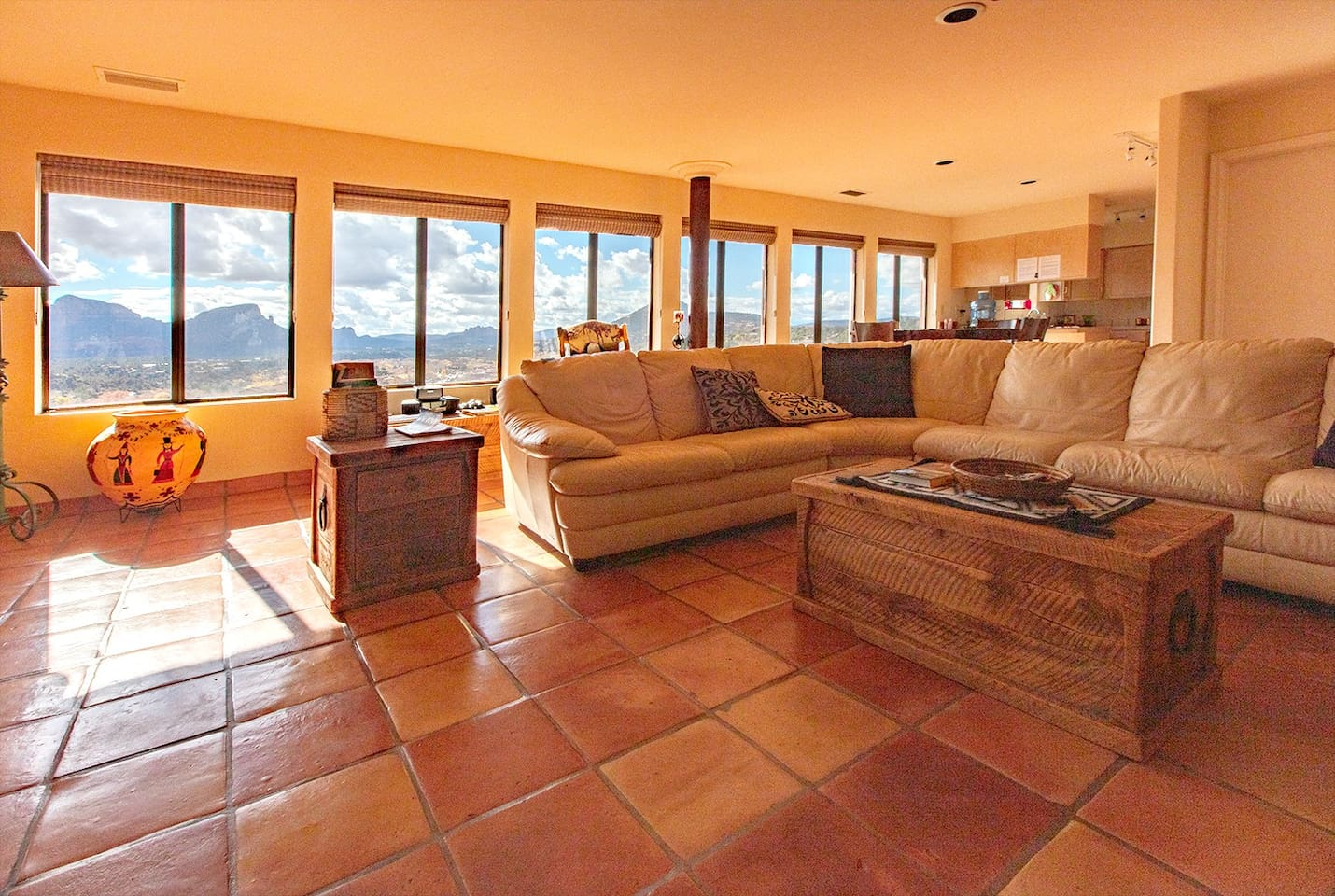 Large living room with great view