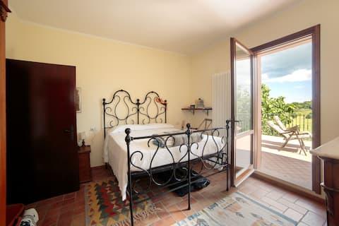 Fine private room in the country near the sea