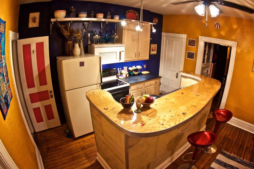 Kitchen designed and built by Jamie Jessop.