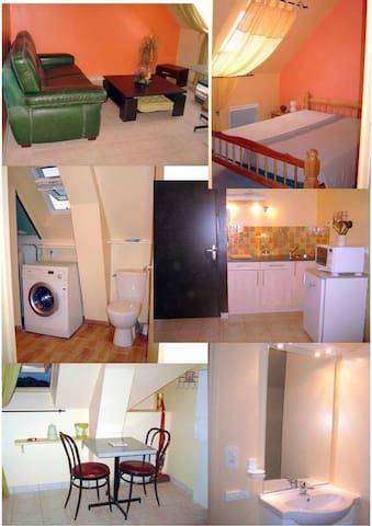 Appartement tt meublé lave linge - Vaudry - Apartemen