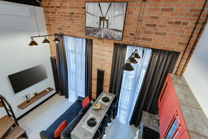 SMART HOST | 2-level URBAN LOFT | Krasnoselskaya