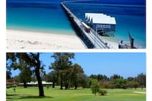 Busselton Jetty and Golf course