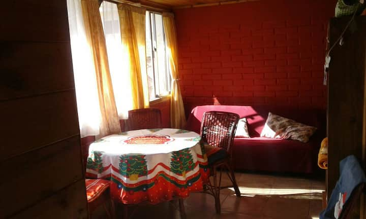 Casa interior independiente, patio compartido paz