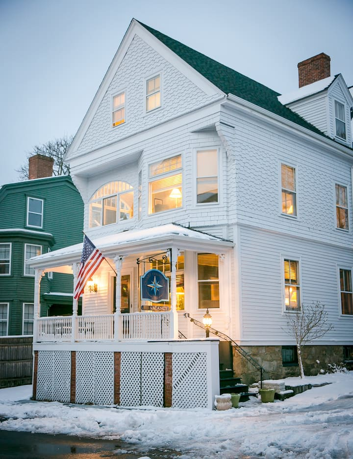 Nautically themed B & B in downtown Newport