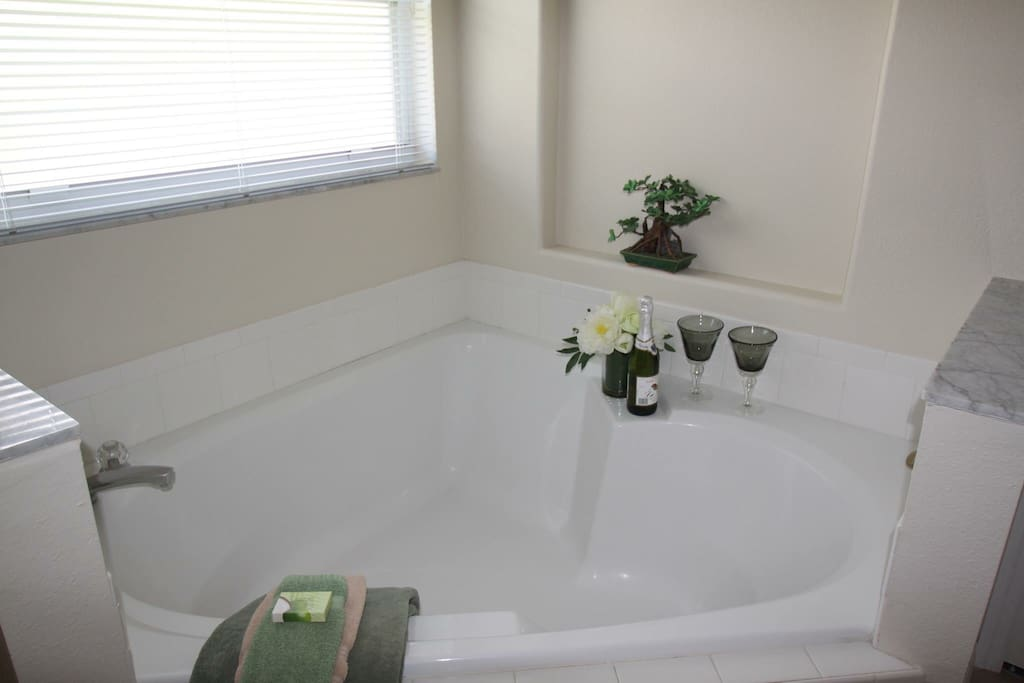 My favorite at this home the double size soaking tub for you and your partner after all that theme park madness ❤️