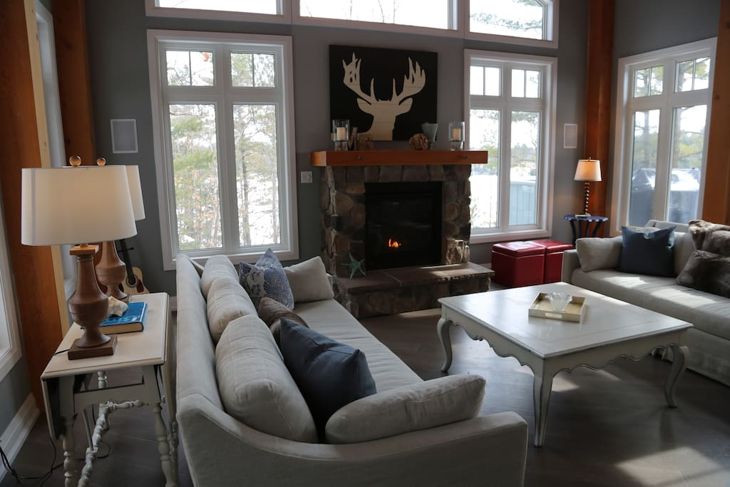Sit by the fire Fall through Spring at MuskokaSoul.com | Extraordinary Escapes