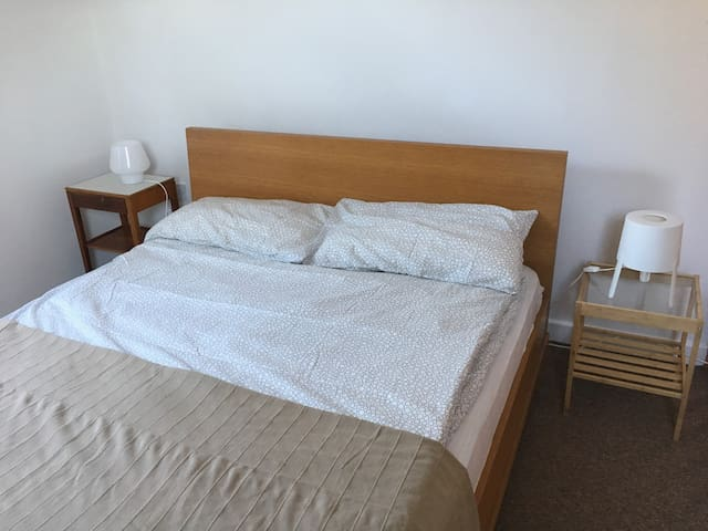King size comfortable bed with two single duvets (Scandi-style)