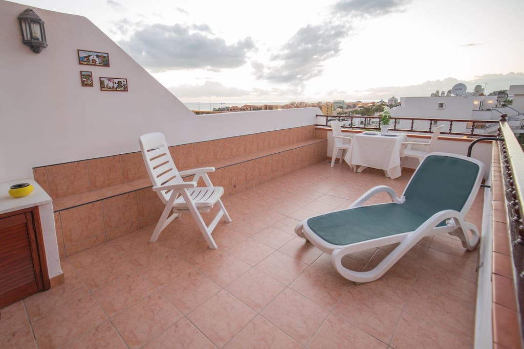 The terrace, big and private, perfect for relaxing.