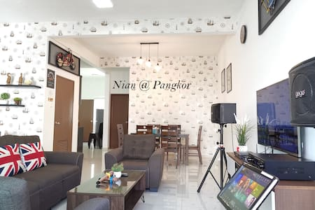Spacious Comfortable House KTV&5min Pangkor beach