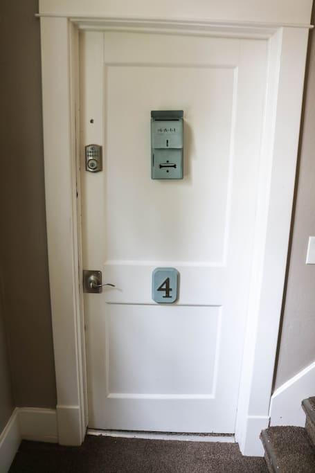 Second floor Apt. 4.