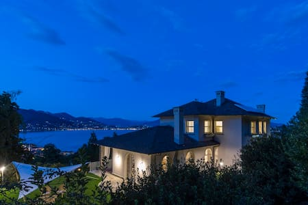 Luxury villa: lake view, pool, wellness, gardens - Baveno