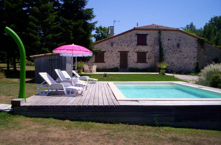 House with 3 bedrooms in Saint-Cirq, with private pool, furnished terrace and WiFi