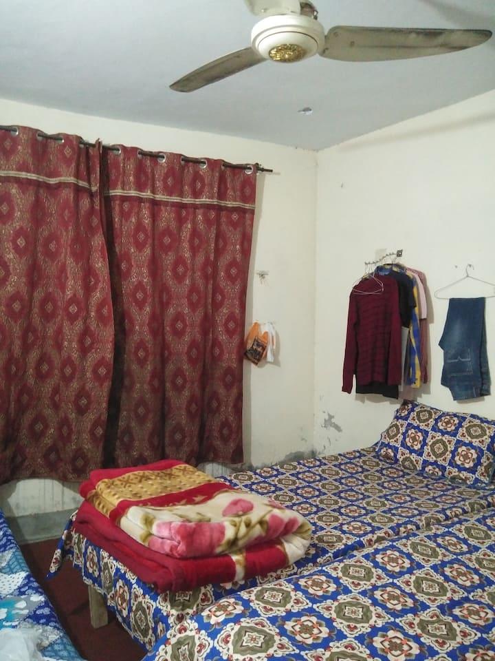Singlebeds,Carpet,Curtains, 247 water,Internet etc