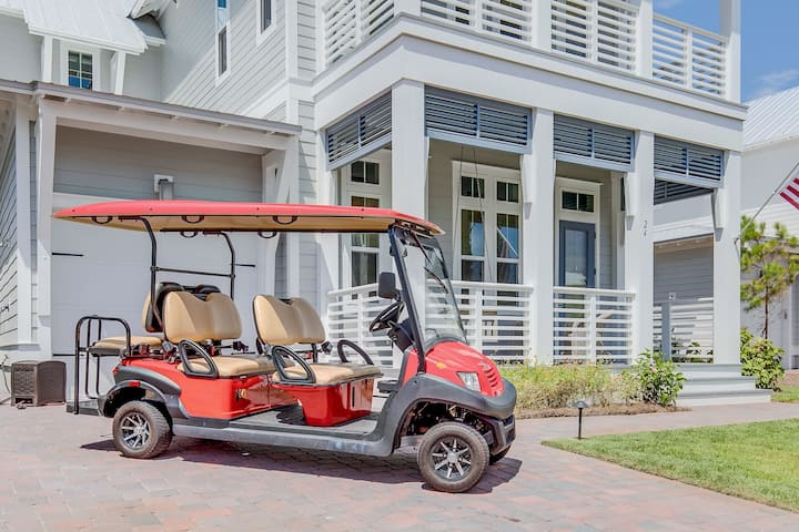 2,800+ Sq Ft! 6-Seater Golf Cart & 4 Bikes! Walk to Pool! - Four Buoys and a Birdie at Prominence 30