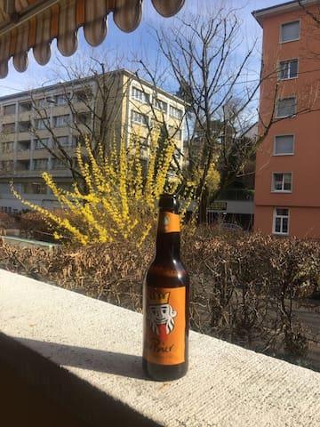 Sunny room with balcony near Rhein - Βασιλεία - Διαμέρισμα