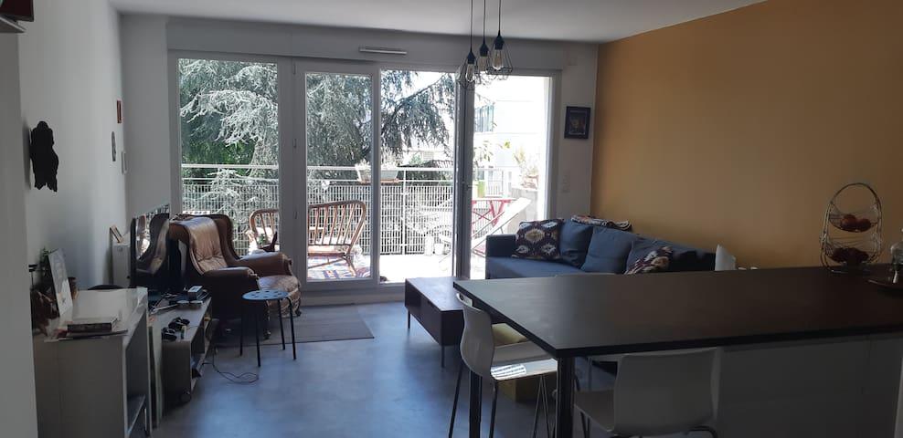 Appartement grand salon avec vue sur Parc
