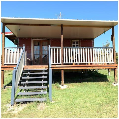Woodford rustic cabin B&B.