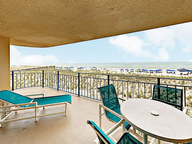 Marvel at the beachscape from the expansive private balcony.