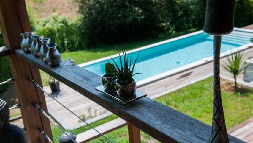 Villa climatisée avec piscine design et jacuzzi - Tercis-les-Bains