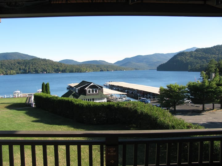 Easy living, spectacular view Lake Placid condo