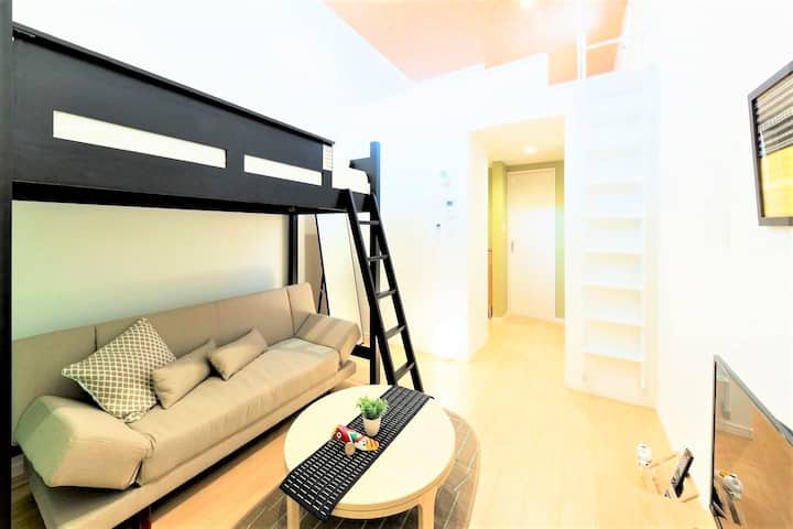 5 guests ☆ Convenient for Tenjin ☆ Free Wi-Fi