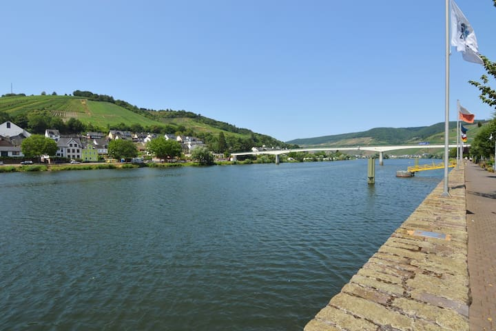 Modern and comfortable apartment close to the Mosel, shops and restaurants