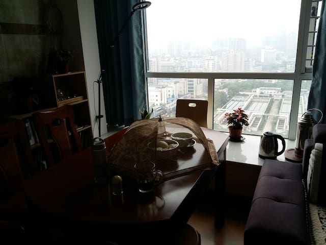 河西高层江景温馨小卧室,出行方便 - Changsha - Casa