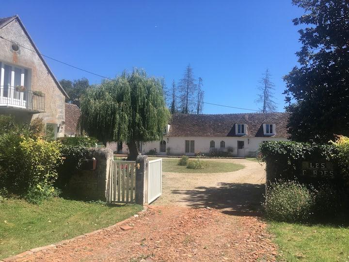 Maison ancienne au calme dans parc de la Brenne