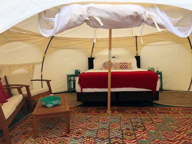 Experience a luxury retreat with glamping