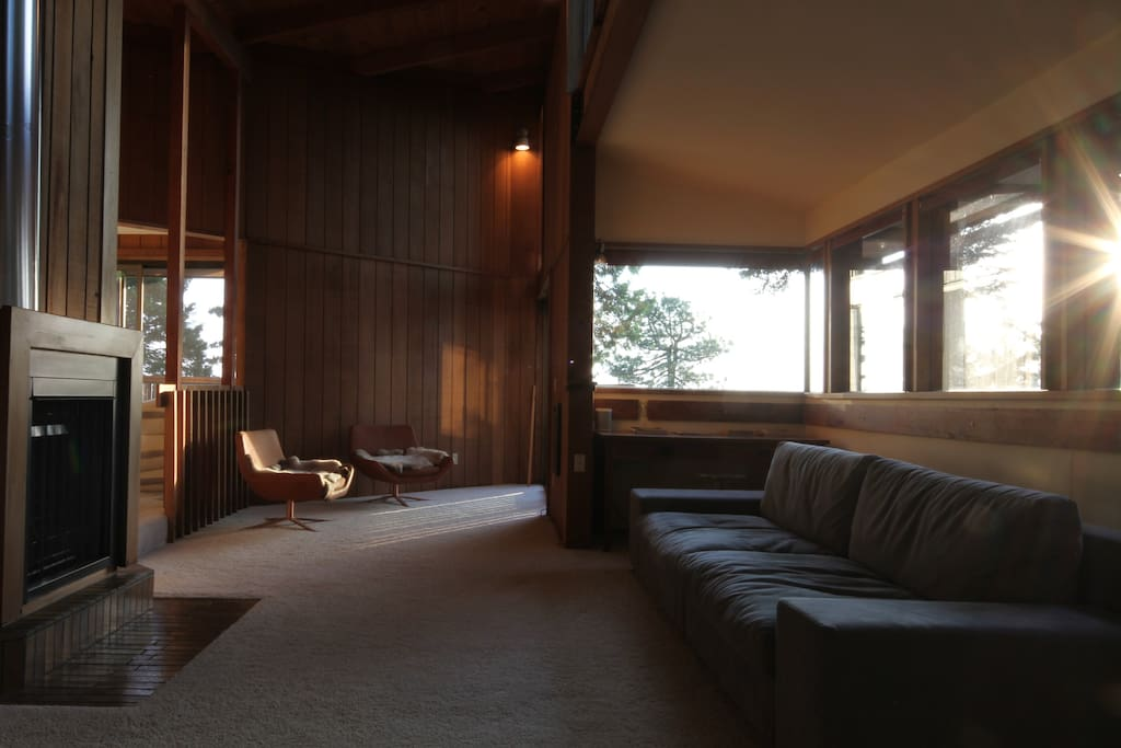 Dennis Mcguire designed this house to be in direct line with the Summer Solstice.