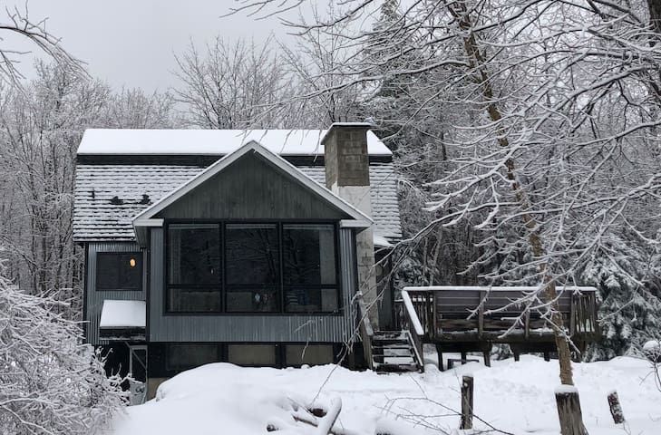 The Snow Barrack:  1/2 mile to Mt. Snow w/ hot tub