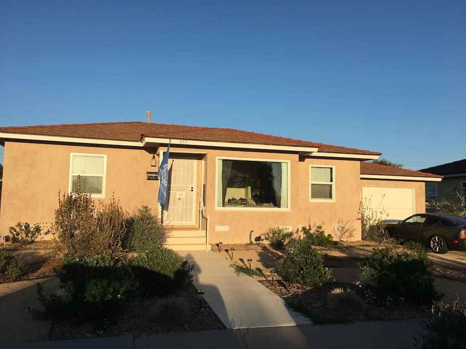 Front of our Home, all drought resistant landscaping.