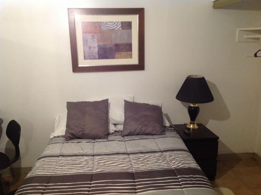 Full size comfortable bed for your entire stay!