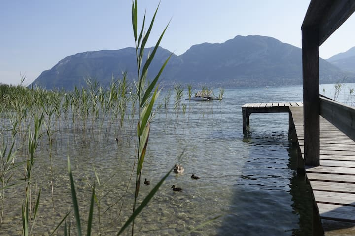 Standing villa with private access to Lake Annecy