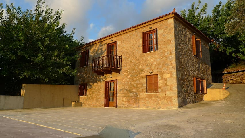 Traditional stone country house in Evia island