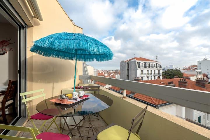 T3 Cosy avec terrasse Coeur de Biarritz Parking