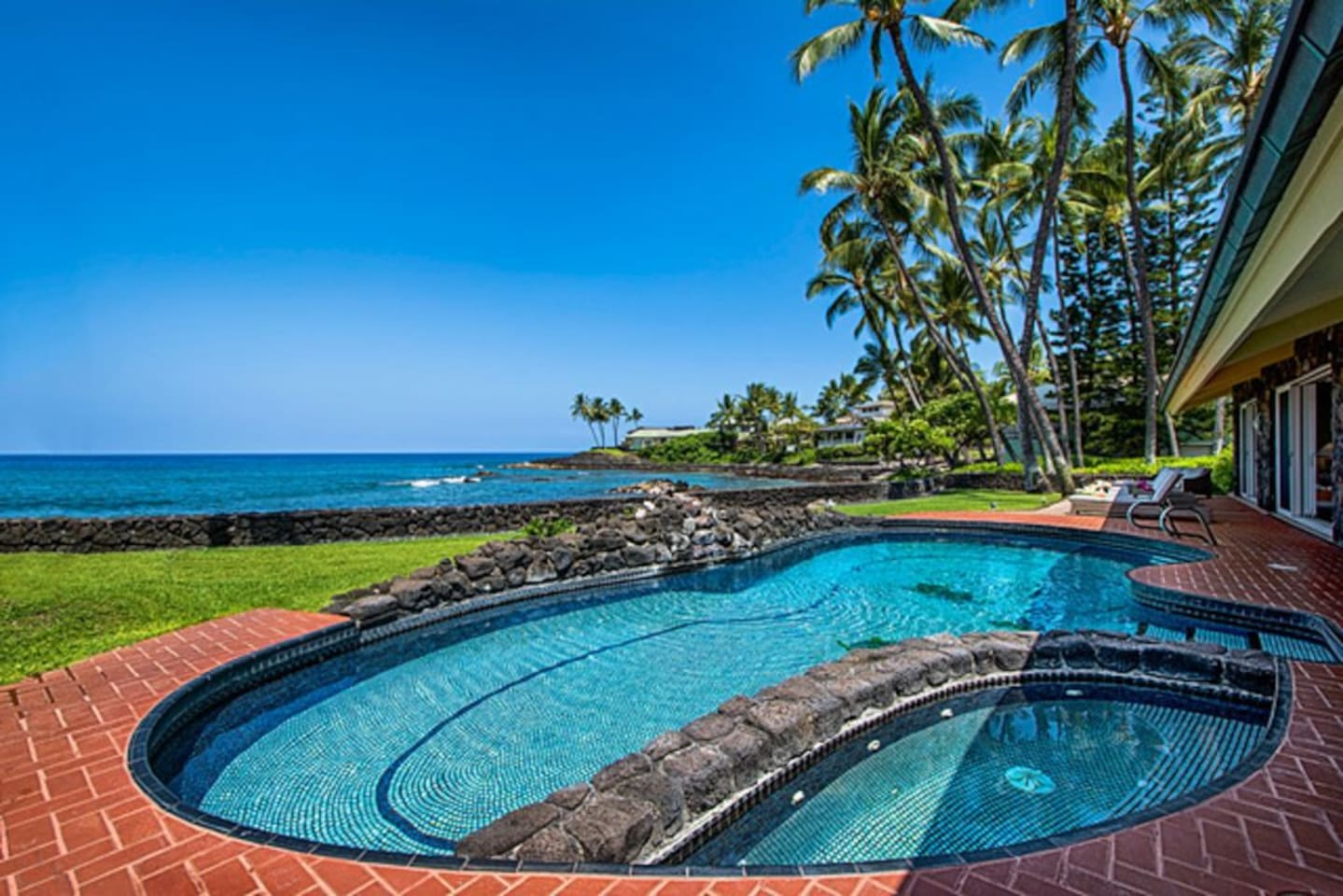 Oceanfront with a Pool