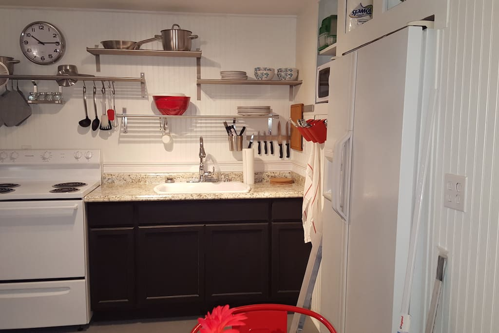 Romantic Europen Kitchen, small but richly appointed