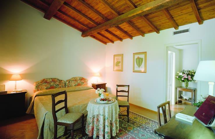 Ampia camera con soffitto in legno-Grottaferrata