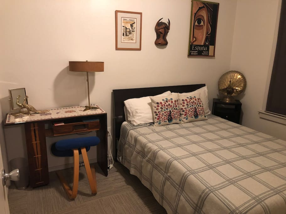 Your bedroom is in the front of the house. Tuft and Needle Mattress, Work station with Balens kneeling chair!  Request fresh linen on long stays.