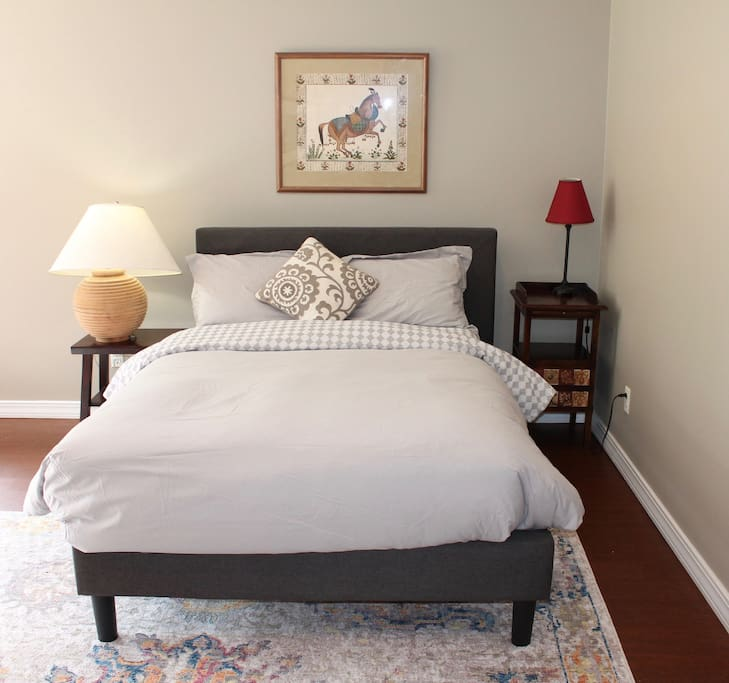 Bed in main living space